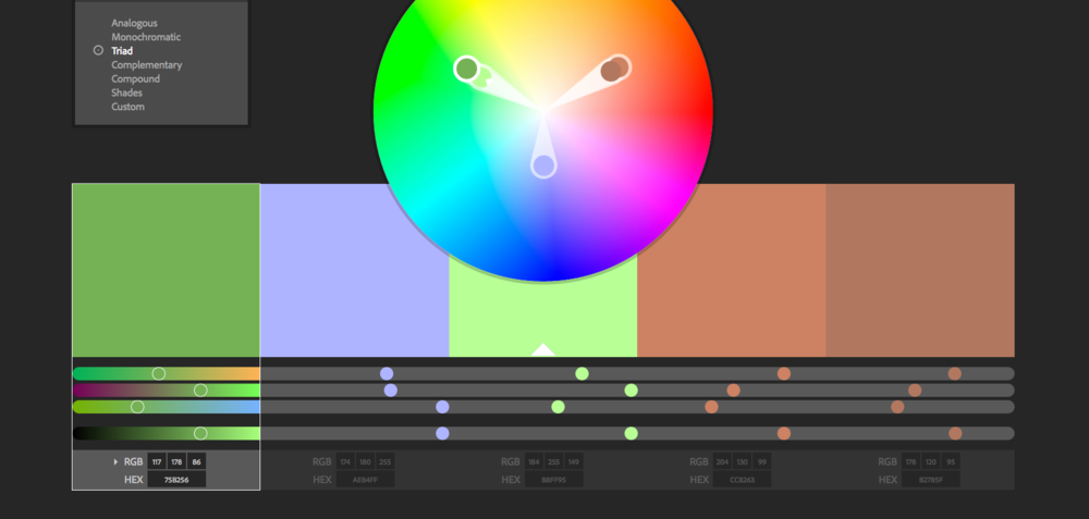 Kuler color wheel