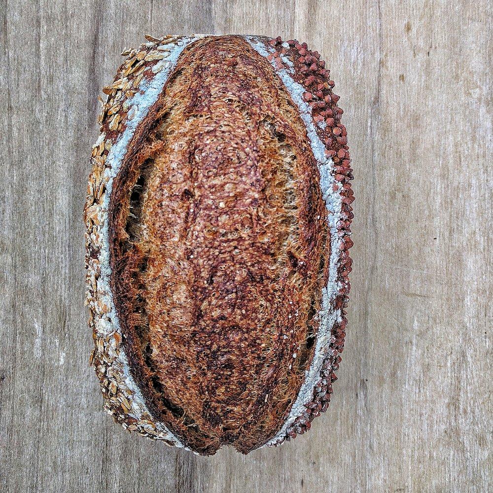 Roasted buckwheat, oat + sorghum syrup