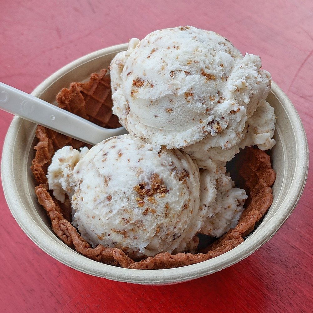 Mesquite cookie crumble ice cream from Lick