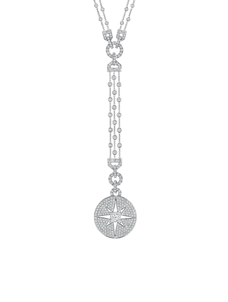 Pastiche CelebrateOld Hollywood Glamour and the streamlined forms of Art Deco in a range of necklaces, rings and bracelets showcasing pave medallions pierced by a delicate star. Each stone is set to capture the interplay between geometry and light.