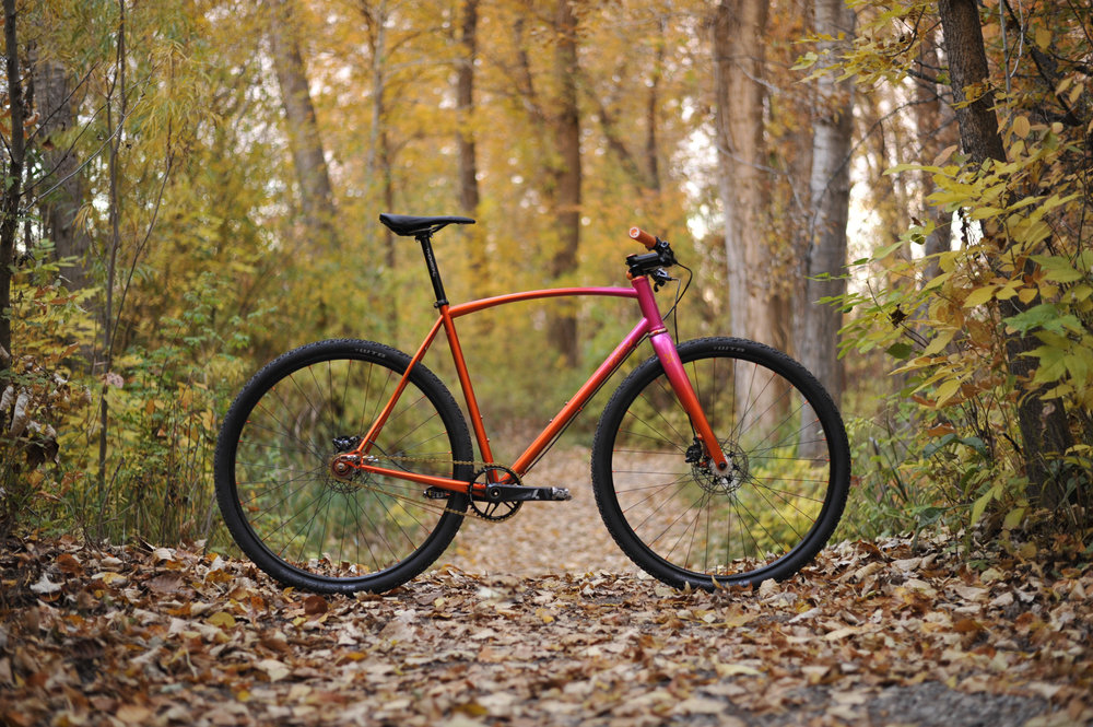 custom gravel all road adventure bike