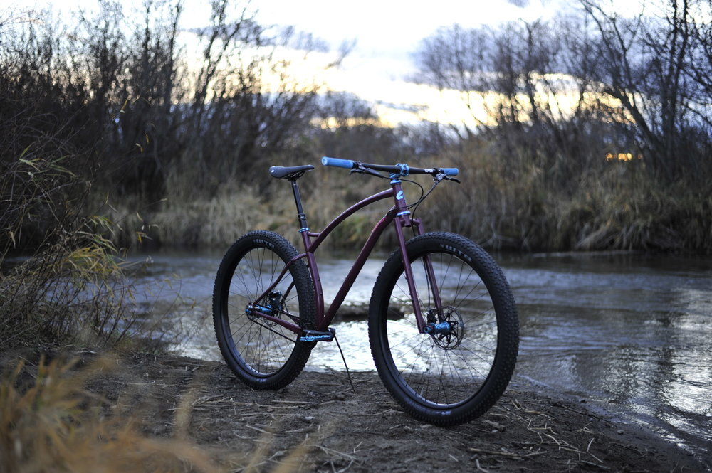 handbuilt custom steel mountain bike
