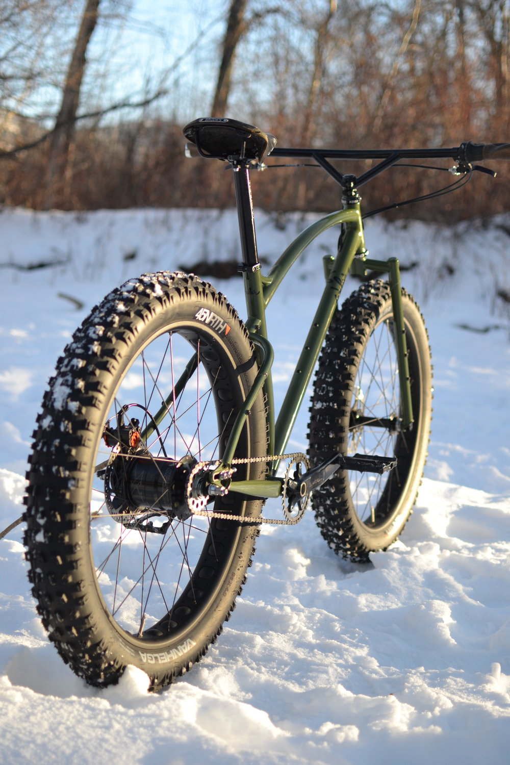 Custom steel fat bike handbuilt