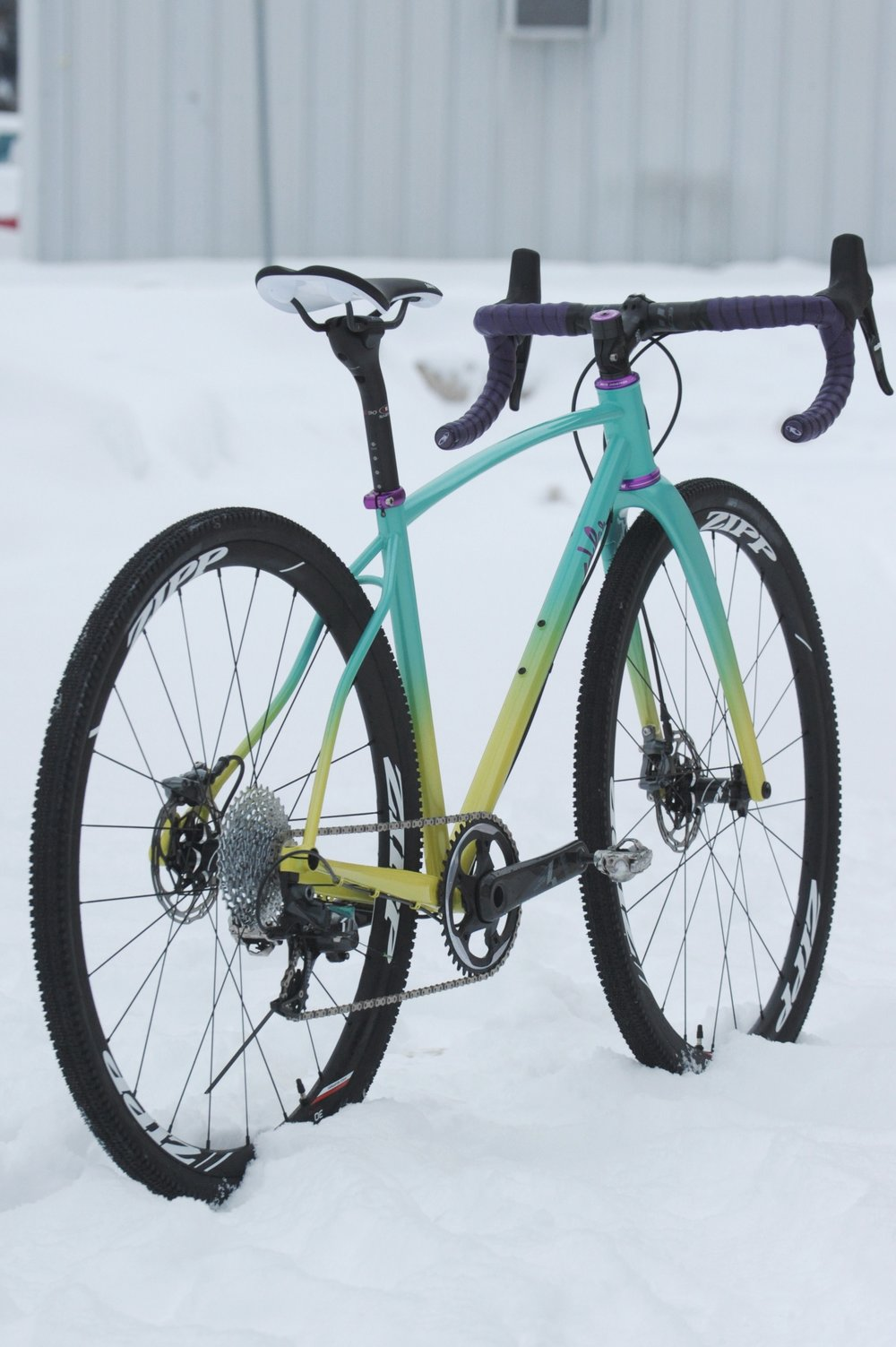 custom handmade steel cyclocross frame
