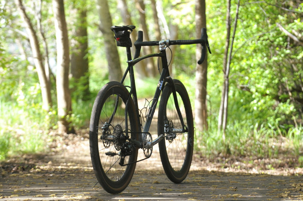custom steel gravel grinder all road bike