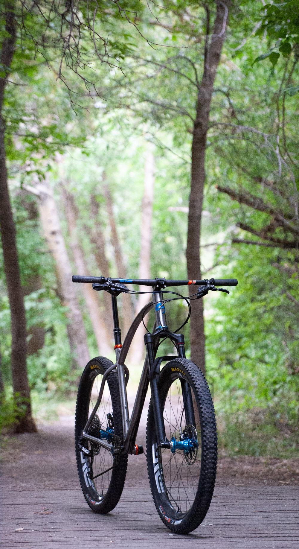 sklar custom titanium bike frames