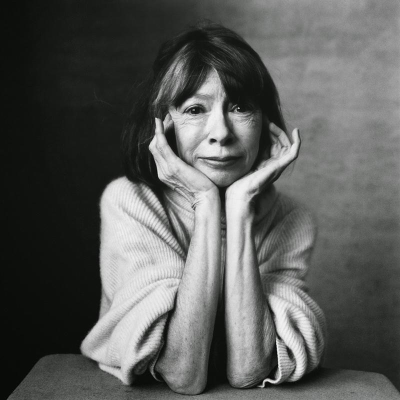 Joan Didion fotografiada por Irving Penn.