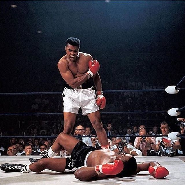 """""""He who is not courageous enough to take risks will accomplish nothing in life."""" -Muhammad Ali #R.I.P. #Ali🏅🦁🐝"""