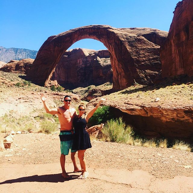 Made an amazing stop today along #LakePowell to see a national monument, #RainbowBridge 🛥⚓️🏞🌈