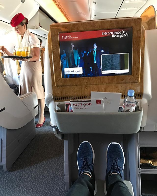 There is only one way to fly to #Dubai 🇦🇪 #Emirates #BusinessClass 👱🏻♀️👱🏻♀️👱🏻♀️