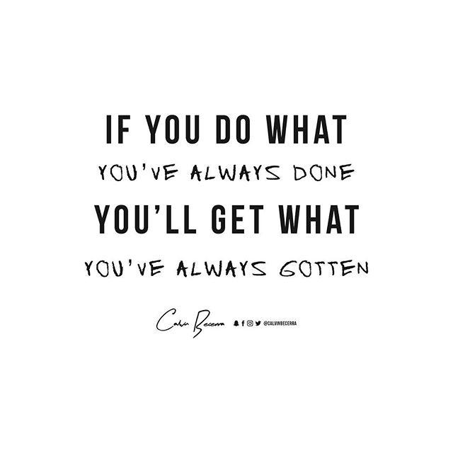 Do different. #QOTD