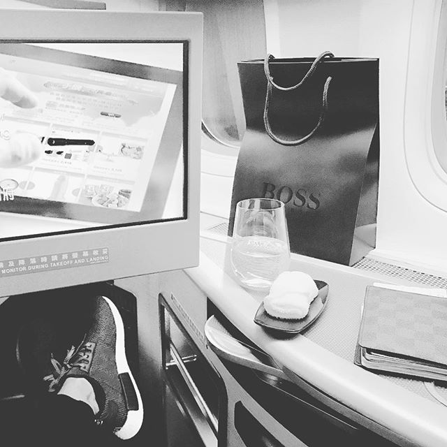 Class is in session. Today's lesson: #Business . #EvaAir ✈️💺👌🏼#Boss