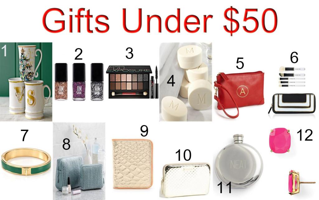 girlfriend gifts under $50