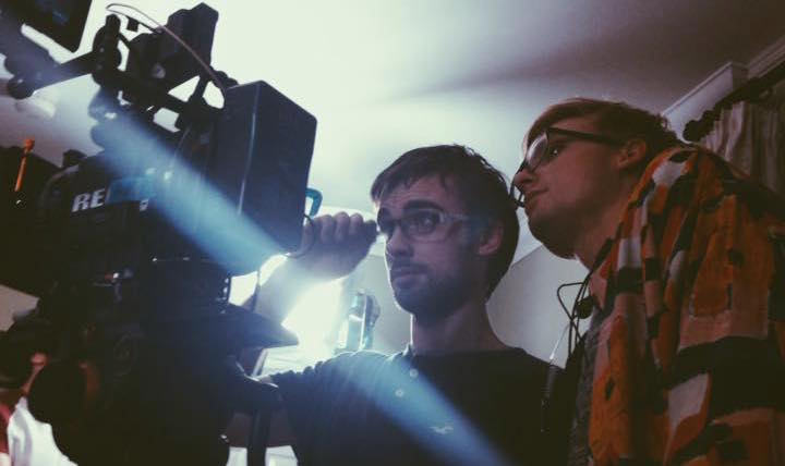 Tom and Dan on the set of Tibetan Night Terror's music video. Photo by Zoë Seiffert.