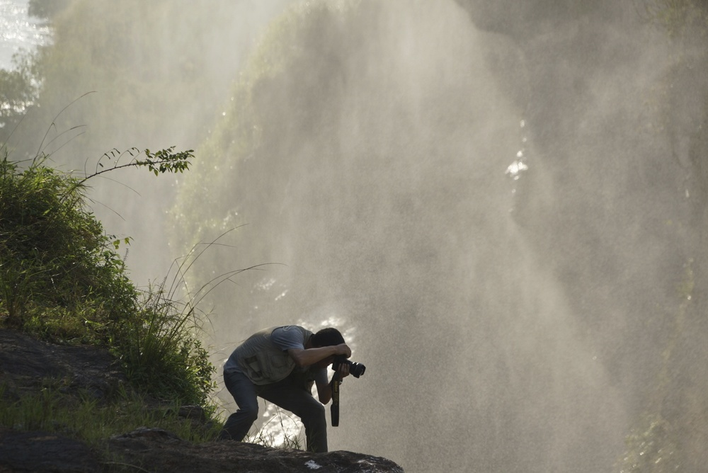 Photographer at Murchison Falls