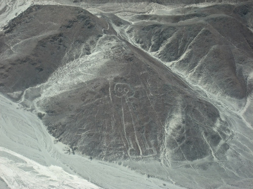 Astornaut-flying over Nazca Lines