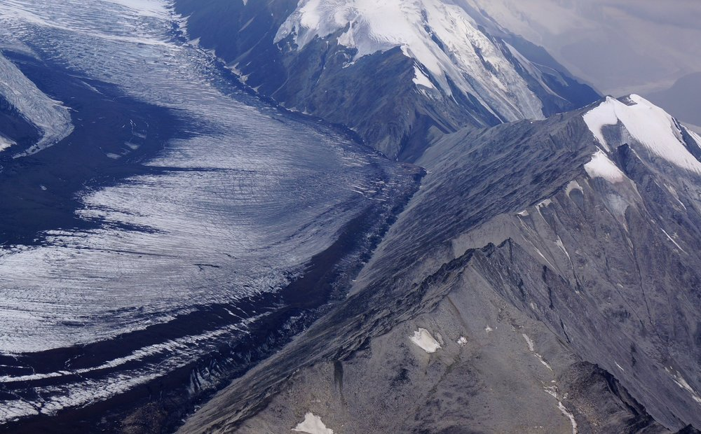 GLACIER--FLYING OVER MT DENALI