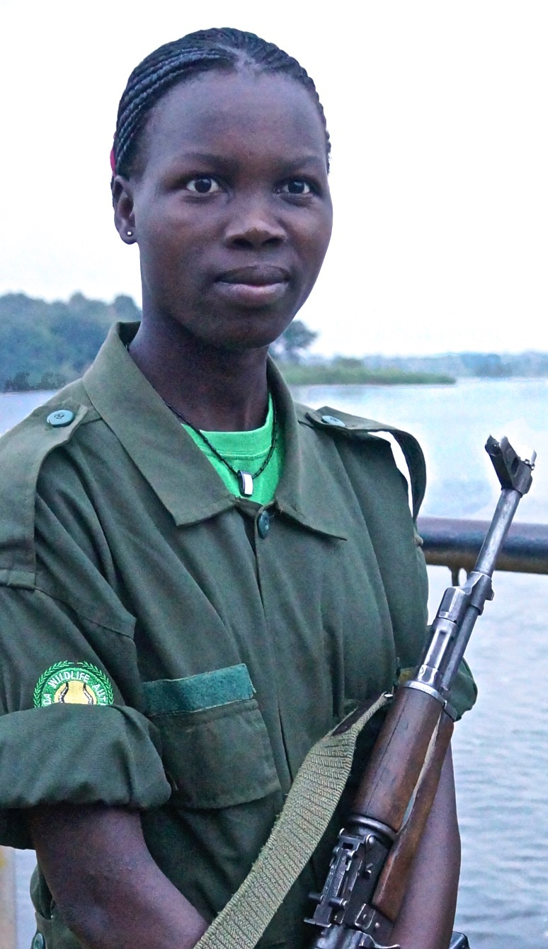 Ranger on Ferry Crossing the Nile River