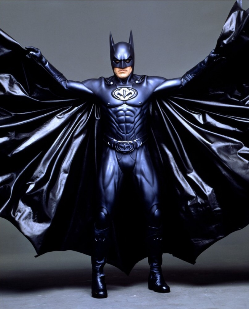 Nipples are one thing, but is it just me or is his cape made out of trash bags?