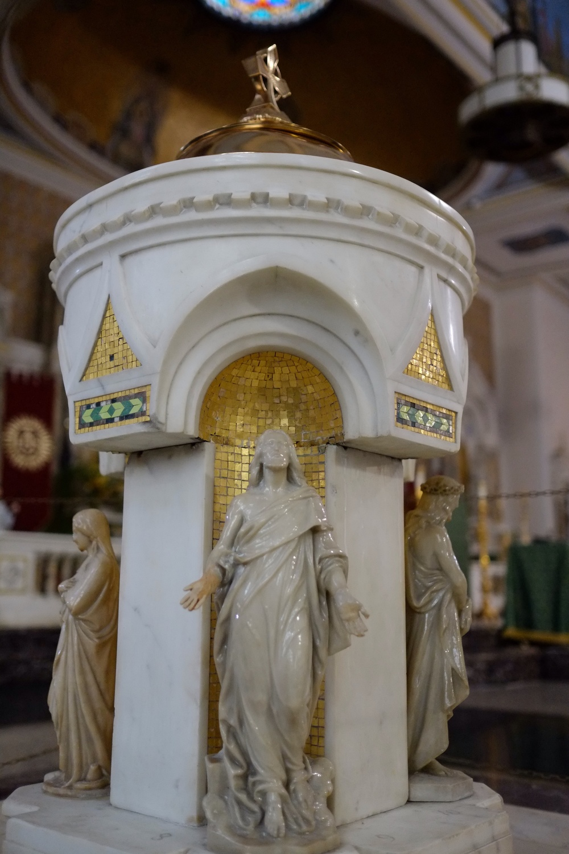 An amazing baptismal font