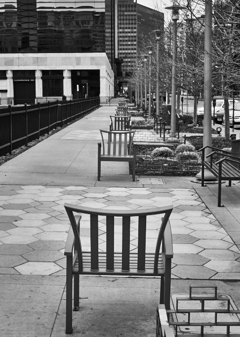 Chairs looking for friends in 38 degree weather