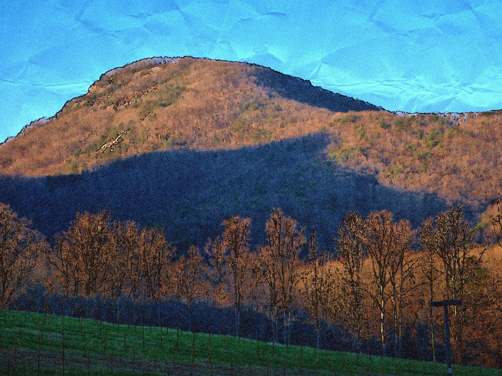 Mount Yonah as a watercolor...with the Bear looking at you.