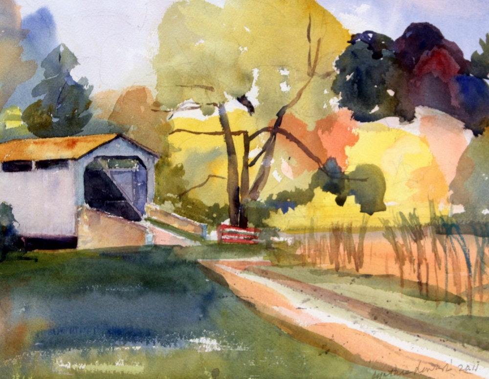 """A Covered Bridge at the Laurals"""