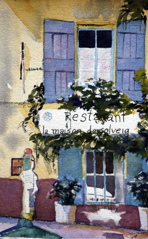 """Cafe in Saignon"""