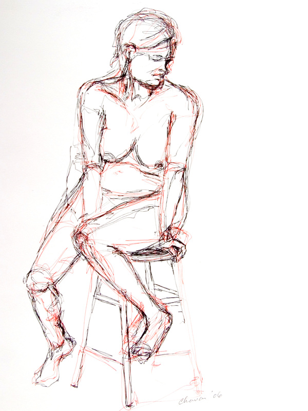 """Girl on a Stool"""