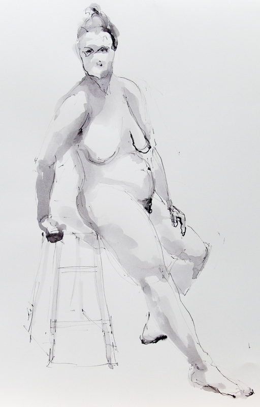 """Nude on a Stool II"""