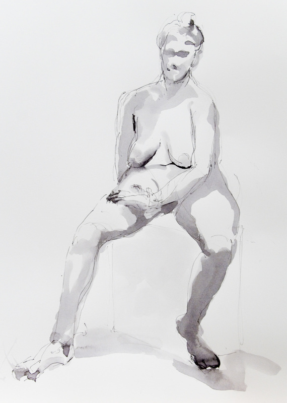 """Nude on a Stool I"""