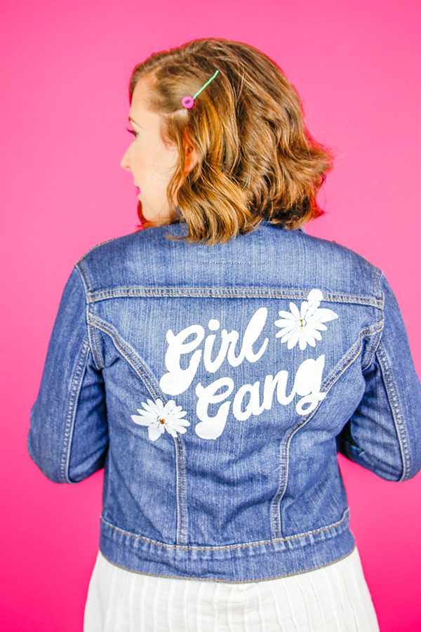 Girl Gang Jacket DIY | Celebrate feminism with this easy DIY jacket.