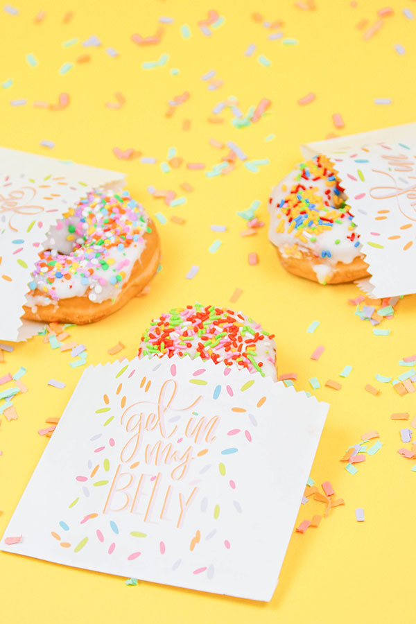 Printable Donut Wrappers| If there was a sixth love language, I'm pretty sure it would be donuts.