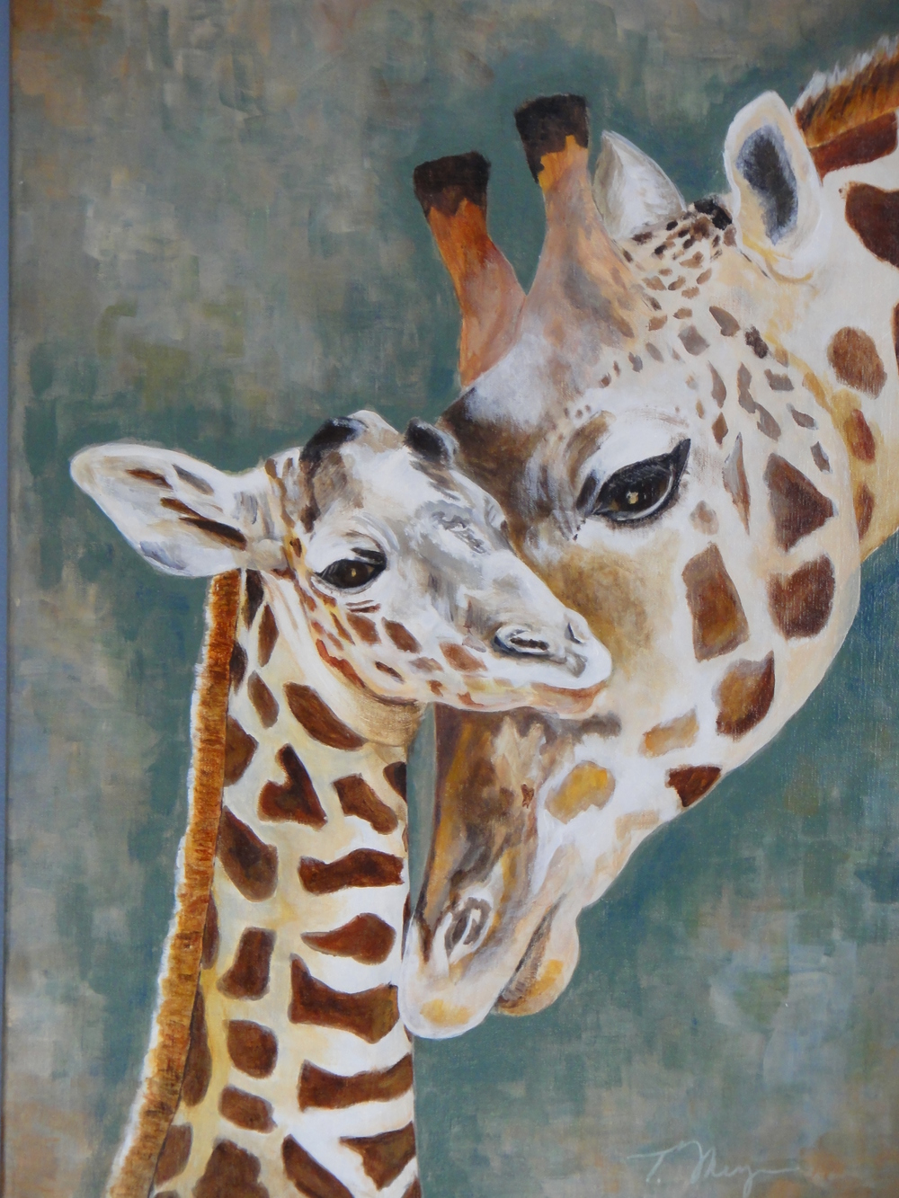 """Giraffe Bonding"" by Terry Meyer"