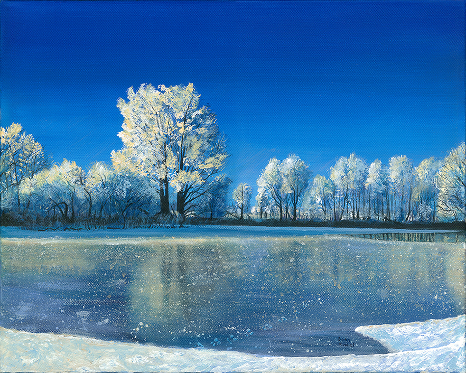 """Frozen Pond"" by Sean Koziel"