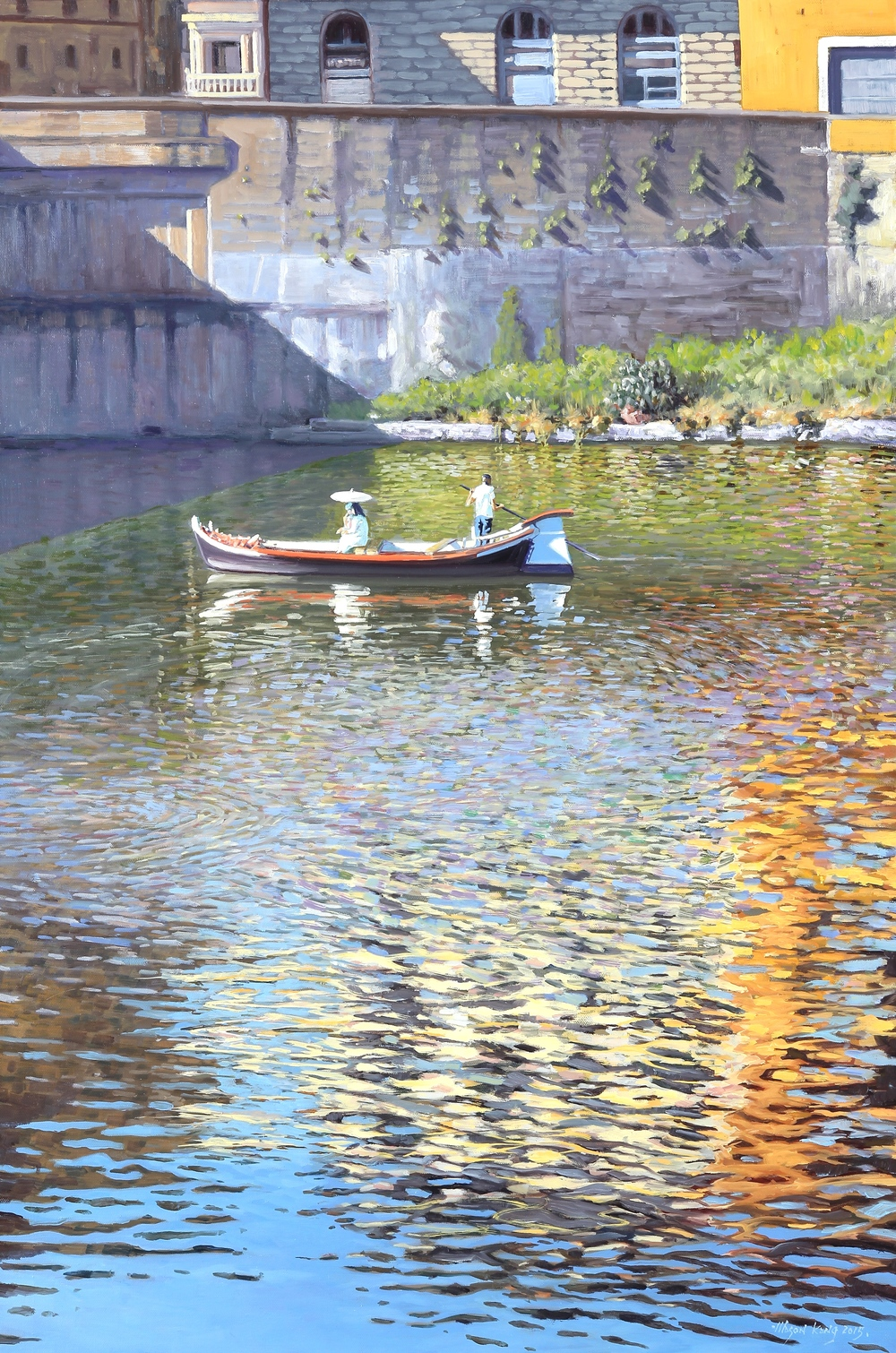 """Boating on Arno"" by Mansung Kang"