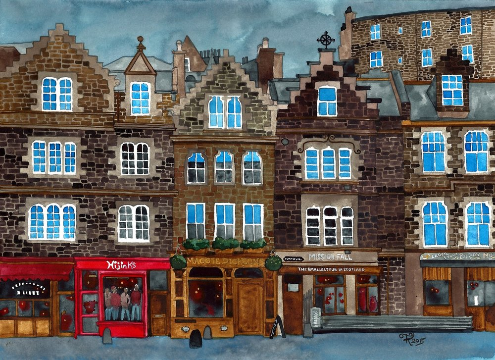 Currie's Close Edinburgh by Terri Kelleher