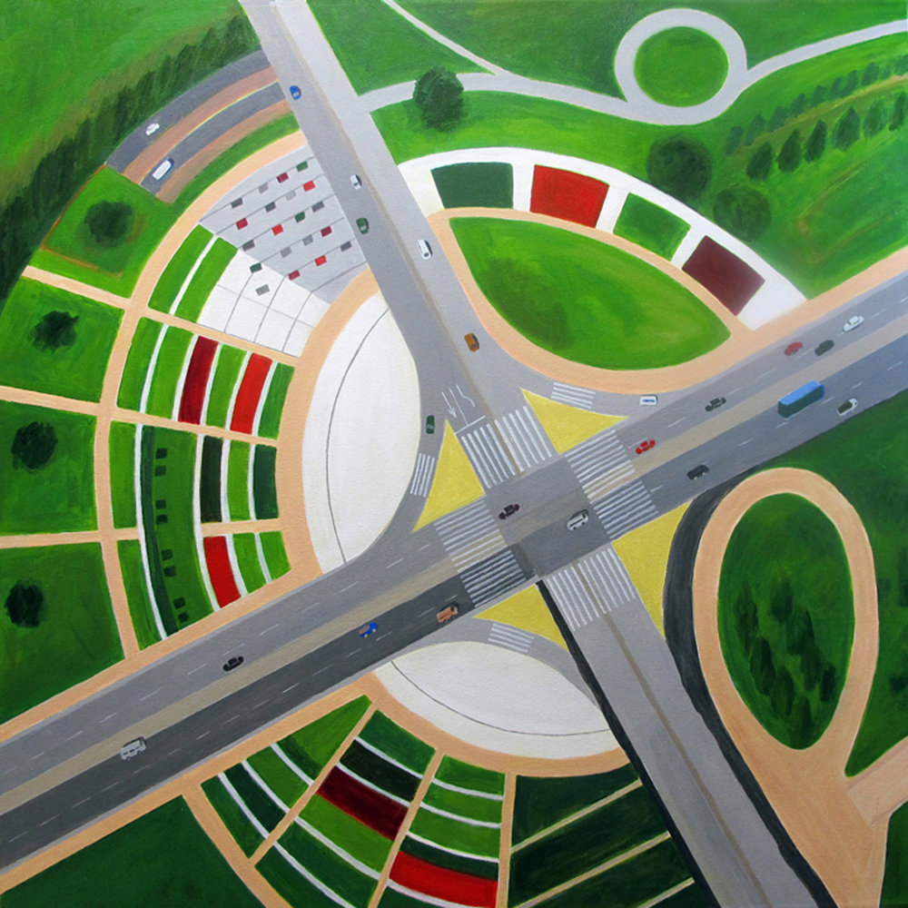 """ Interchange with Garden"" by Toni Silber-Delerive"