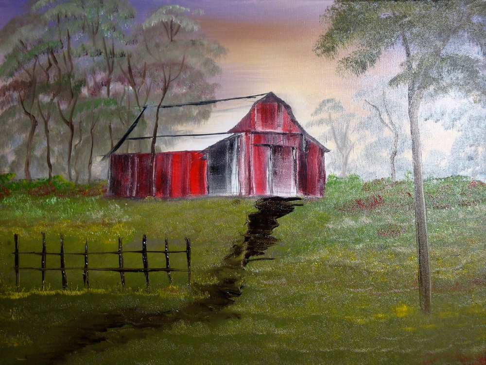 """Old Rustic Red Barn"" by Lana Futlz"