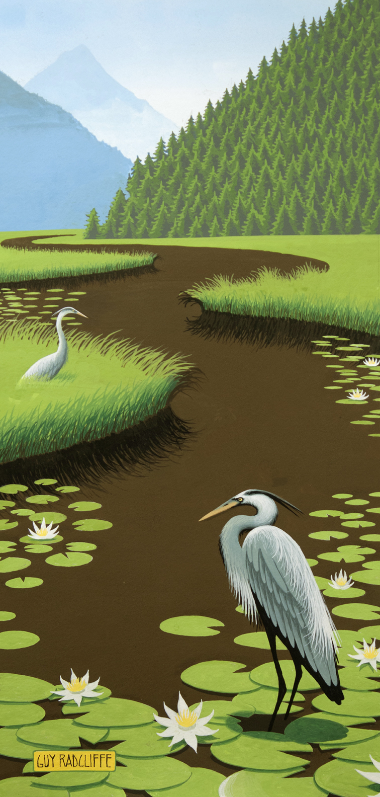 20496922-GuyRadcliffe_Blue_Herons_And_Lily_Pads_Gouache_11x12_1500.jpg