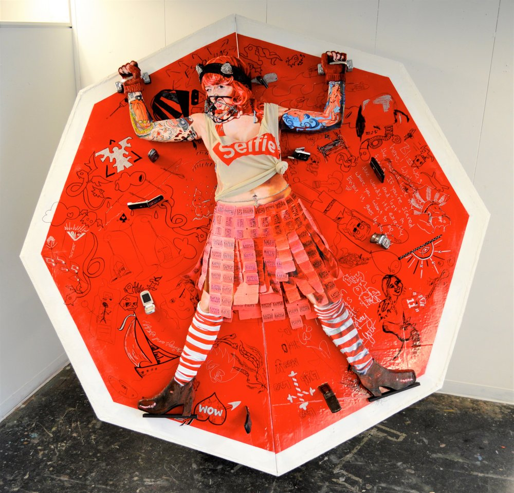 20496926-Wild_Reddy for a Selfie_oil on insulation foam with mixed media_7x7x3.5 feet_2015_2,500.jpg