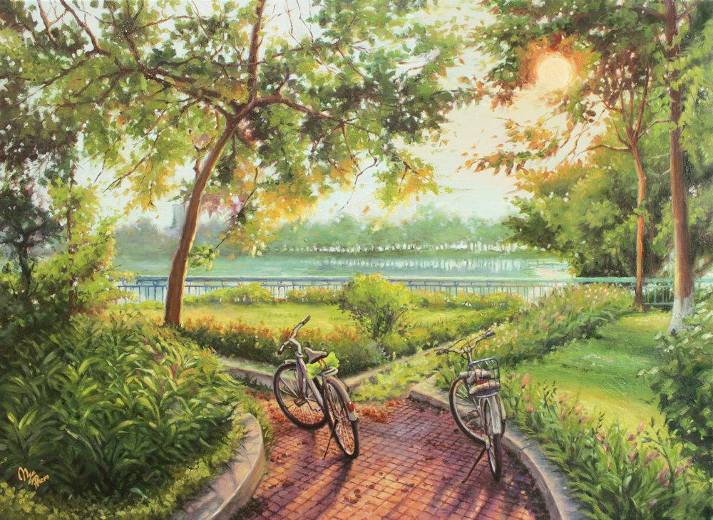 20496926-Nga Pham_Morning at West Lake_Oil on canvas_19x27_500.jpg