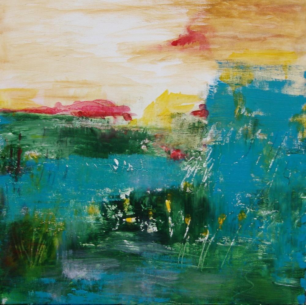 "Marsh View   16"" x 16"" - acrylic on canvas"