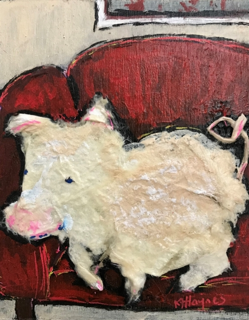 Kathryn Harley Haynes - Pig 5 - On the Couch.JPG