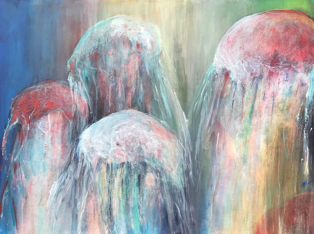"""Ocean 3   36"""" x 48"""" - acrylic on canvas"""