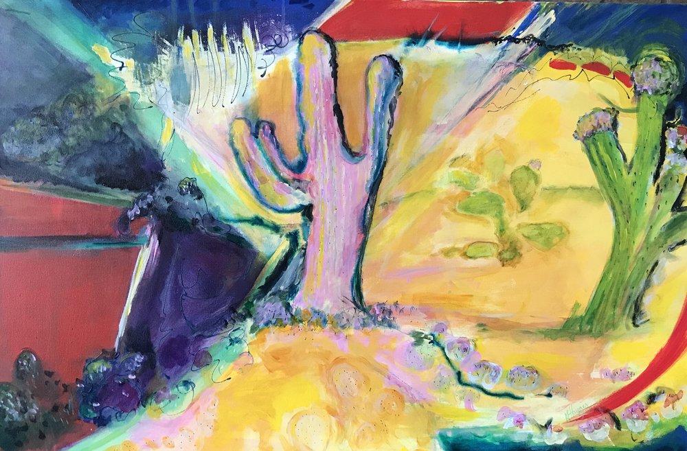 "Desert View   24"" x 36"" - acrylic on canvas"