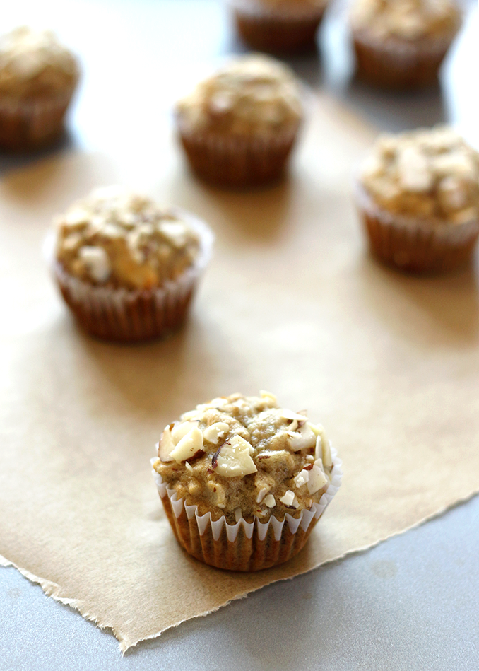 Mini Banana Almond Muffins