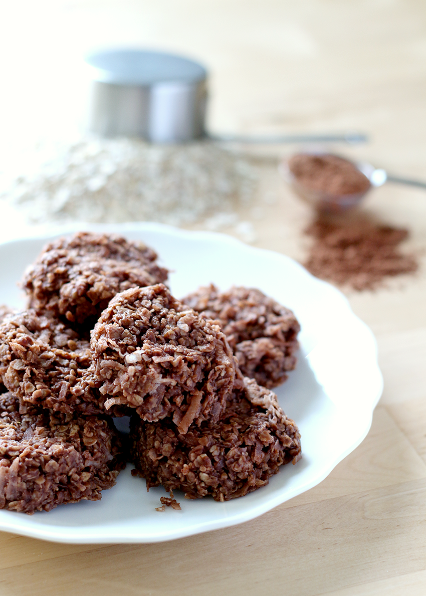 No Bake Chocolate and Coconut Oatmeal Cookies