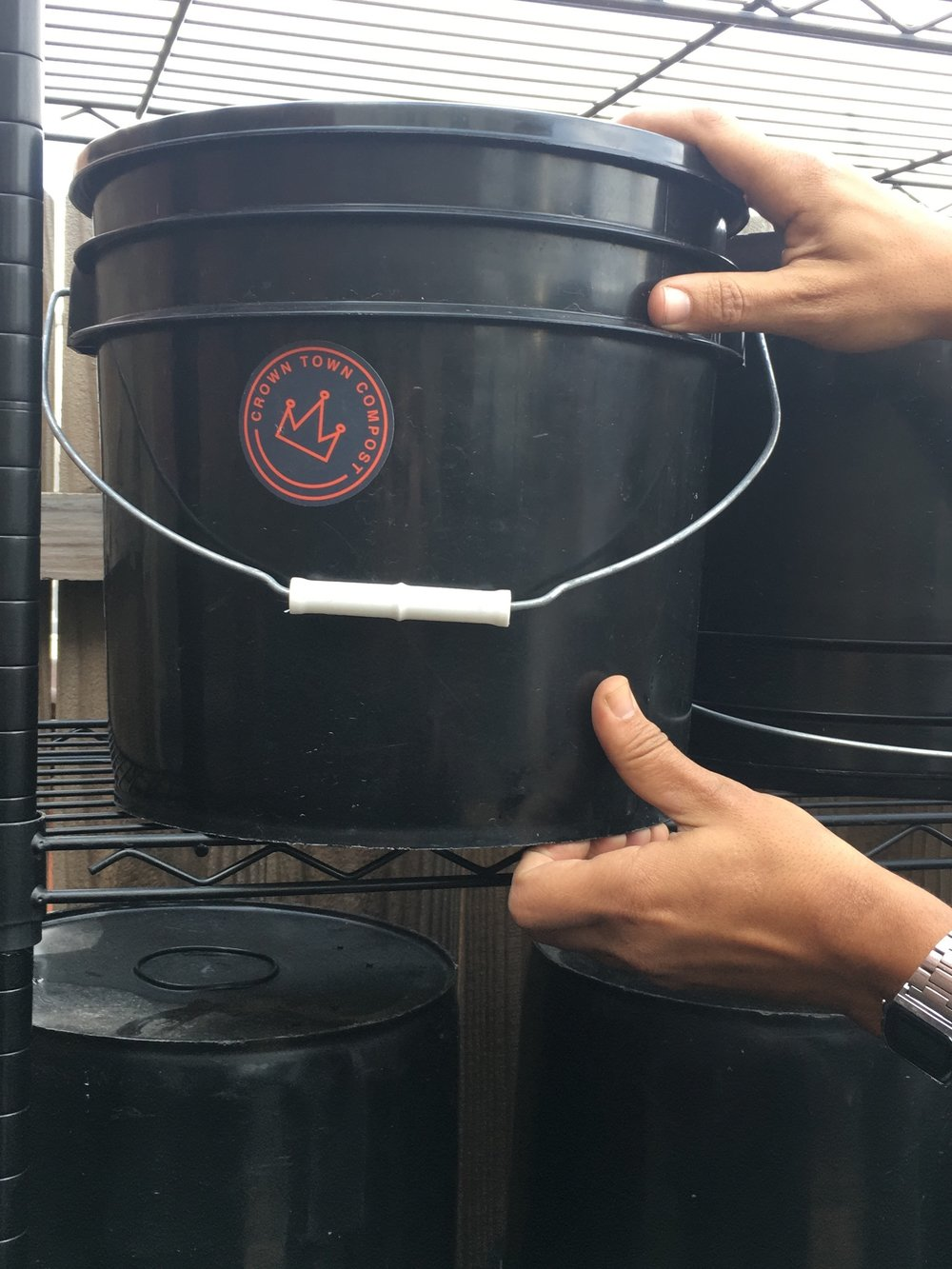 When you fill your bucket up again bring it back and we will empty and clean it for you! - Lather, rinse, repeat!