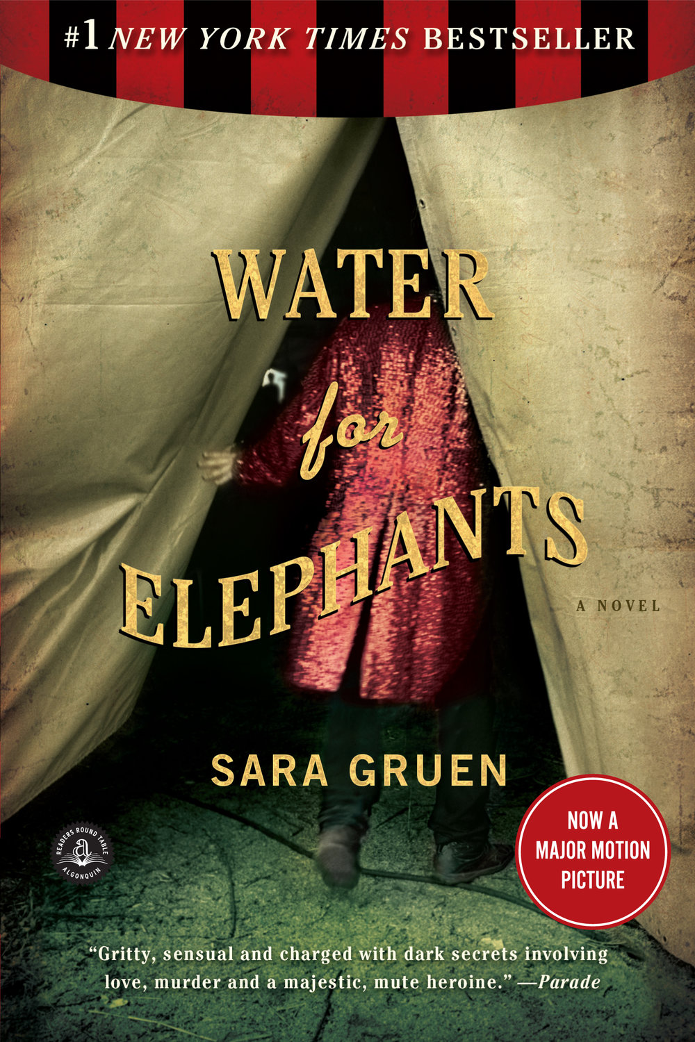 Sara Gruen's  Water for Elephants  began as a NaNoWriMo project (photo courtesy of  Workman Publishing ).